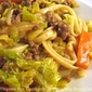 Ground Beef and Savoy Cabbage Lo Mein; Daily Life in Ireland