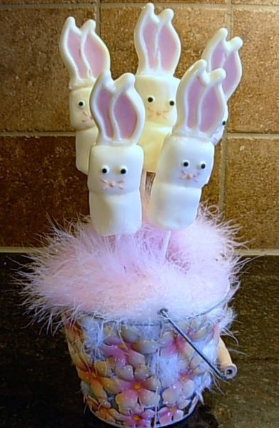 Marshmallow Easter Bunnies Recipe By Two Cookeatshare