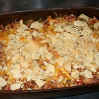Tortilla Casserole with Bacon and Beans