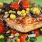 Chipotle Salmon with Black Bean and Corn Salad