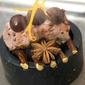 Cubo di Cinghiale al Vapore di Liquirizia ed Arancio Con Cioccolato Xocoline e Composta di Cipolle All'Anice