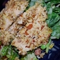 Almond Crusted Chicken and Spinach Salad