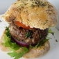 Mushroom Burger with Spicy Pepper Relish and Celeriac Remoulade