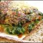 Avocado and poblano pepper omelette