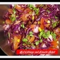 Red cabbage, kidney beans and Tomato salad with a zesty salad dressing