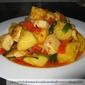 Pineapple Tofu Stir Fry In Spicy Sauce
