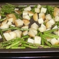 Roasted Potatoes and Asparagus with Light Blue Cheese Vinaigrette