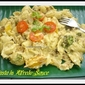 Pasta in Alfredo Sauce ( low-fat version)