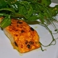 Curried Salmon Filets with Organic Pea Shoot Salad