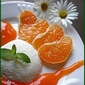 LOW CAL FRUITY SANDESH WITH ORANGE SAUCE