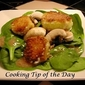 Recipe: Spinach Salad with Crispy Goat Cheese Medallions