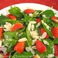 Spinach, Strawberry and Almond Salad; Cooking for Two, Weekly Menu