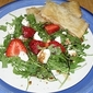 The Greek Store and Arugula and Strawberry Salad with Pecan Crackers