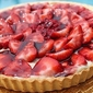 Amaretto Strawberry Cream Glazed Tart