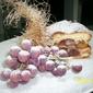 torta di mele con uva fragolina