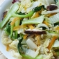 Stir-Fry Bok Choy and Napa Cabbage with Mushrooms and Carrot