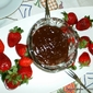 Yogurt creamy CHOCOLATE fondue dip...just 4 ingredients!