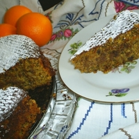 CLEMENTINE CHOCOLATE and NUT torte cake
