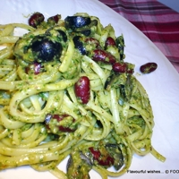 PARSLEY sun-dried TOMATO PESTO on PASTA