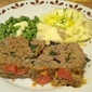 Confetti Meatloaf with Tomato Jam