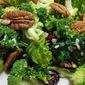 Broccoli Kale Salad with Ginger Sesame Vinaigrette