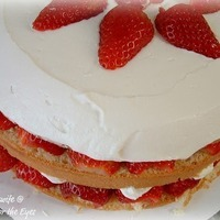 Beautiful, Creamy Strawberry Cream Cake, from America's Test Kitchen/Cook's Illustrated