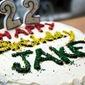 Jake's 22nd Birthday Cake - Chocolate Cake with Vanilla Bean Buttercream