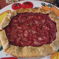 Rustic Strawberry Tart with Mascarpone Cream