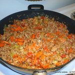 Mediterranean style FILLING for Mexican Tacos
