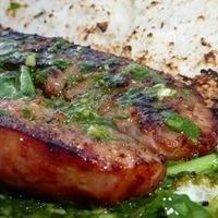 Chimichurri sauce,choripan