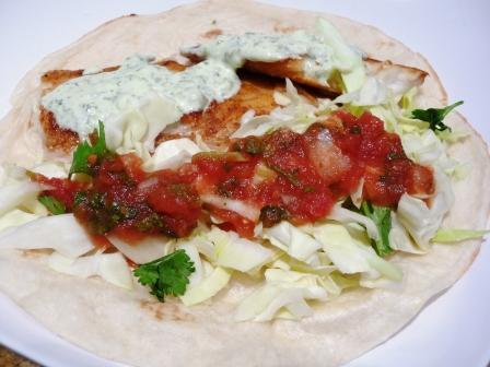 Fish Tacos with Lime-cilantro salsa