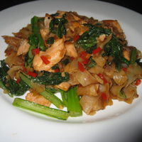 Salmon And Rice Noodles Fry