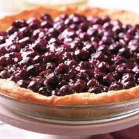 Open-Faced Fresh Blueberry Pie