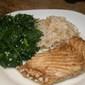 Roasted Halibut or Sea Bass with Balsamic Garlic glaze