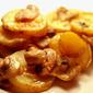 Potato Mushroom Gruyere Cheese Gratin