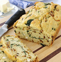 Caramelized Onion & Spinach Olive Oil Quick Bread Recipe