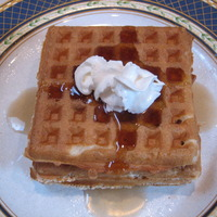 Homemade Belgium Waffles