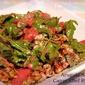 Arugula Salad with Walnuts, Gorgonzola, and Creamy Raspberry Vinaigrette Dressing