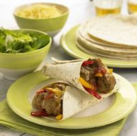 Meatball burritos