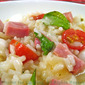 Caprese Risotto with Ham; the update