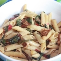 Chard, Bacon, and Whole Wheat Pasta