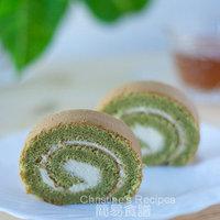 Green Tea (Matcha) Swiss Roll