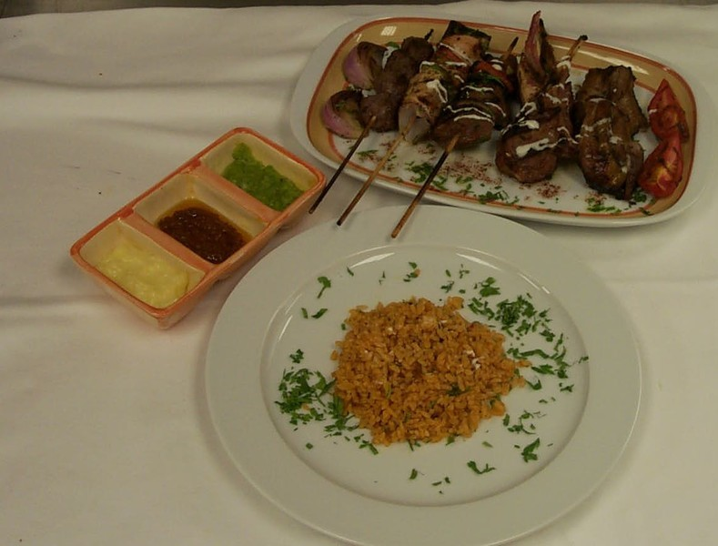 Oriental mixed grill