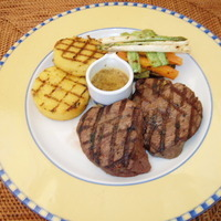 char grilled beef tenderloin with teriyaki sauce