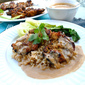 Grilled Curried Chicken with Peanut Sauce
