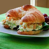 Simple Chicken Salad Croissant Sandwiches