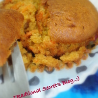 Carrots & Orange Wholewheat Muffin's/Cup Cakes..;)