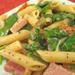 Pasta with Ham, Spinach and Mascarpone; Houdini Dog