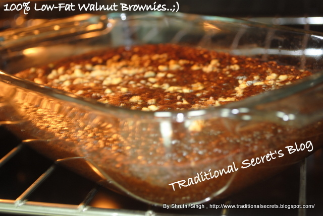 100% Low-Fat Walnut & Oatmeal Brownie's..;)