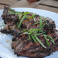 Butterflied leg of lamb with mint and garlic
